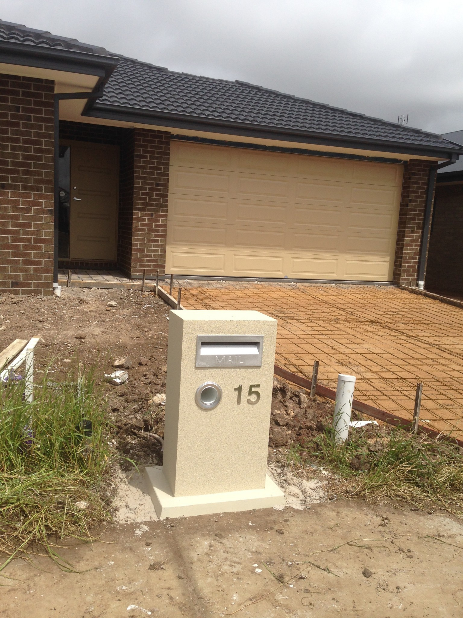 Concrete & Brick Letterbox designs